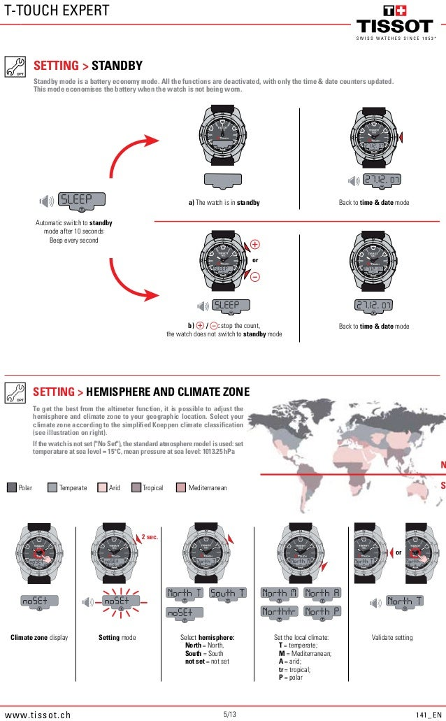 tissot touch manual