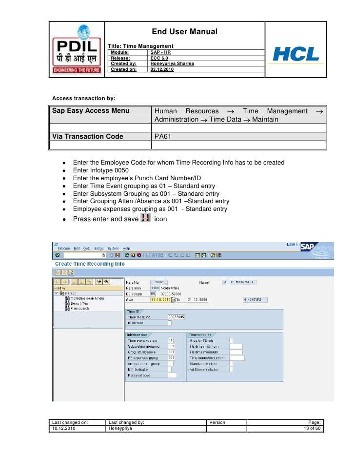 sap hr infotypes list pdf