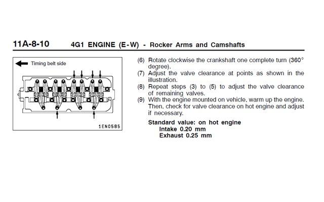 valve clearance adjustment pdf