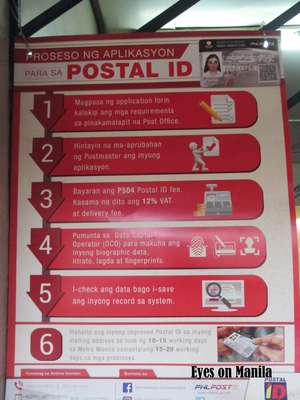postal id application paranaque