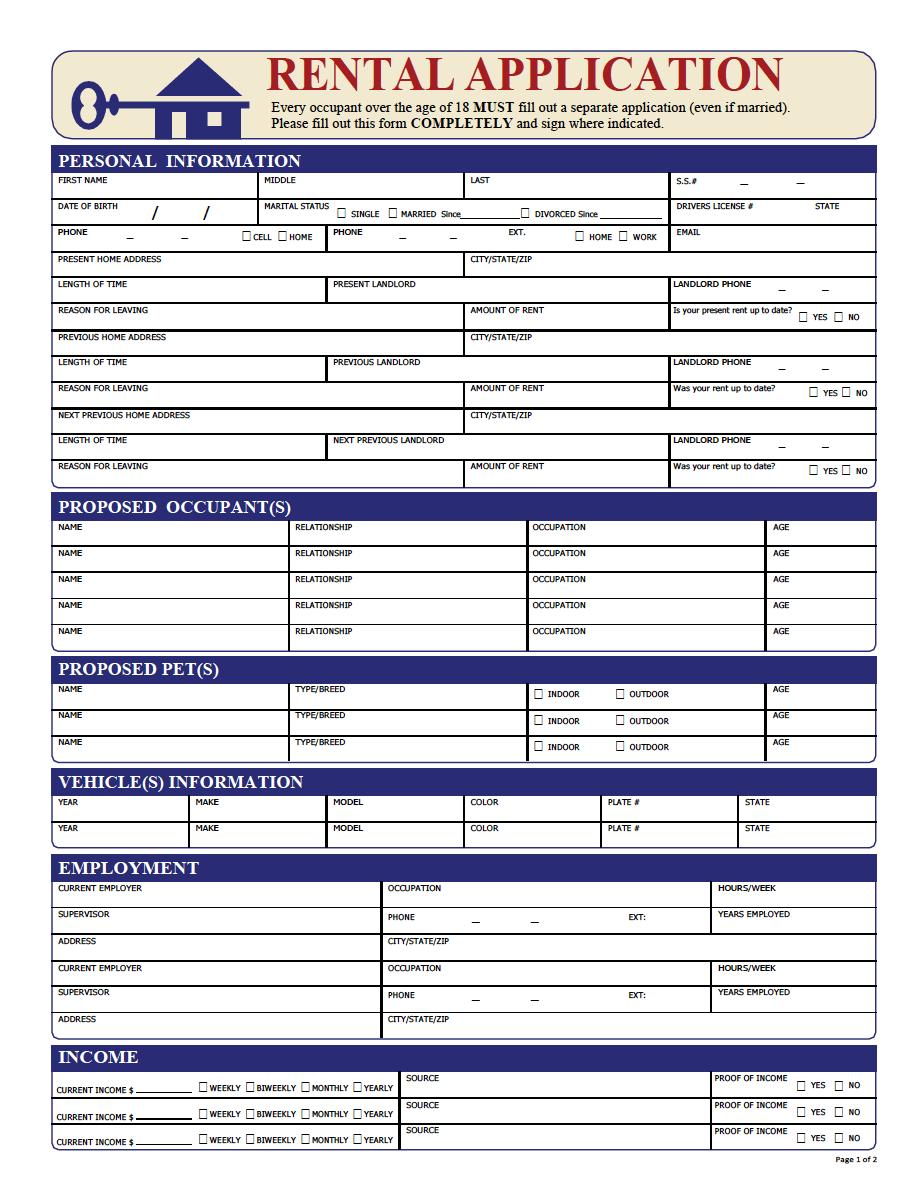 tenancy pre application form