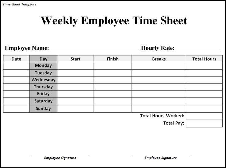 time sheet form pdf