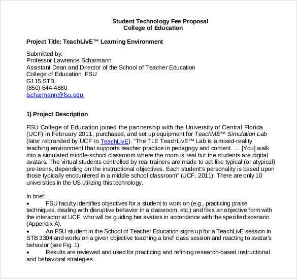 project proposal sample for students