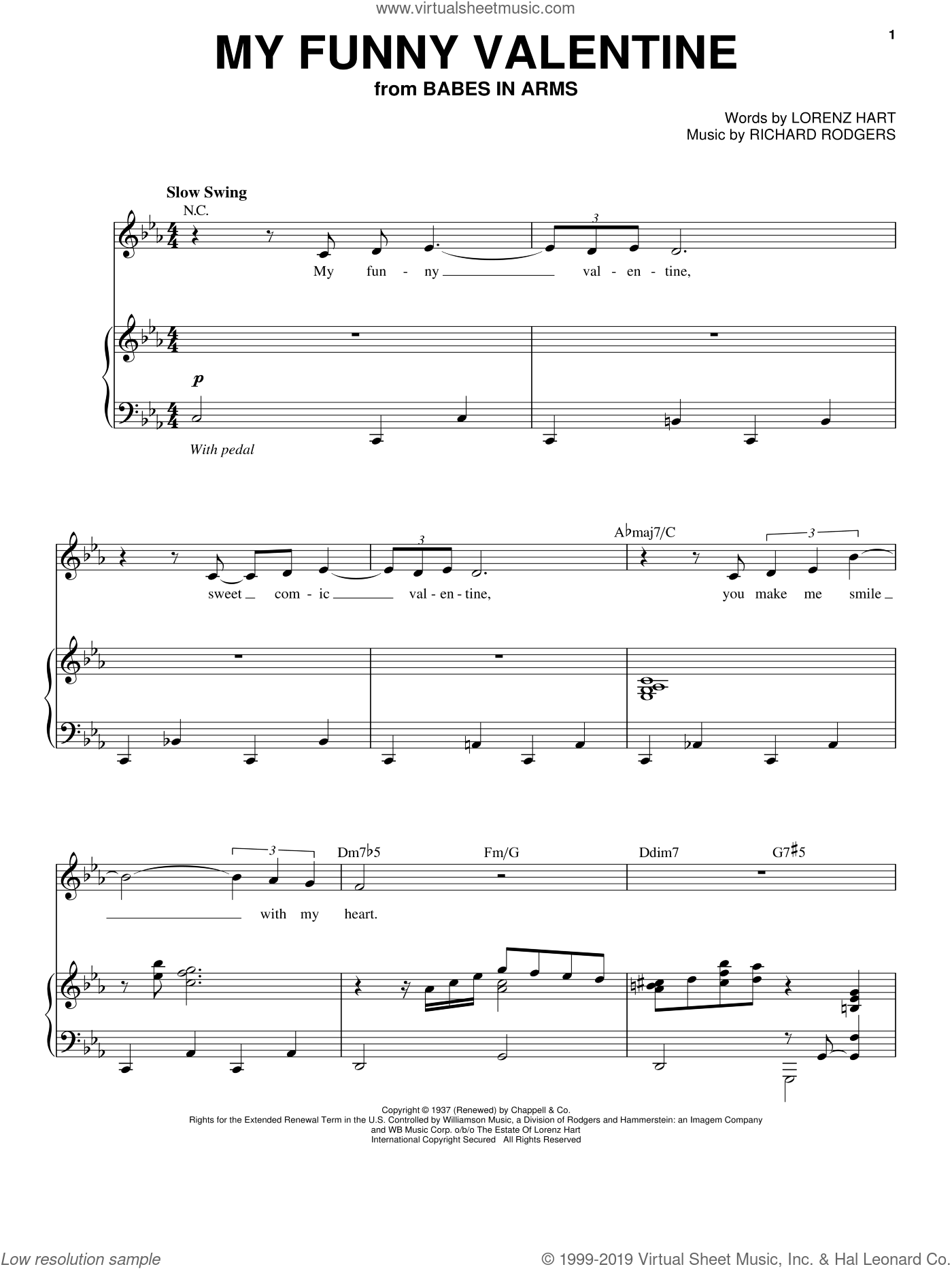 my funny valentine pdf lead sheet