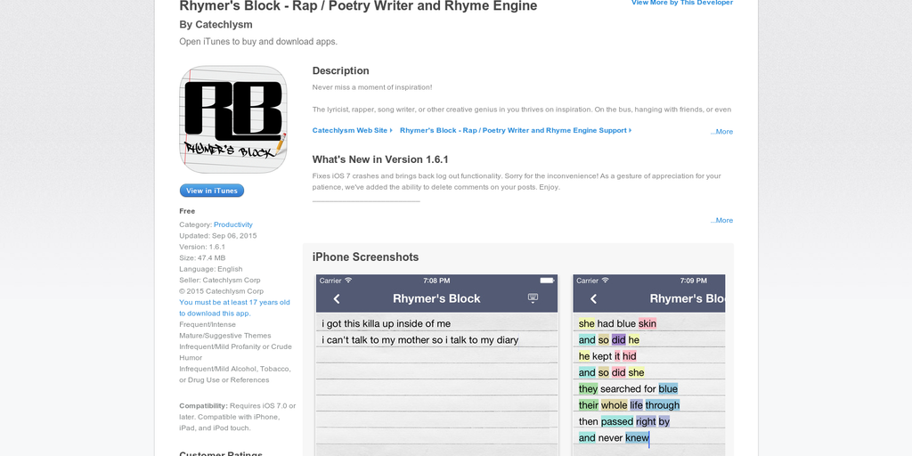 rhymer dictionary