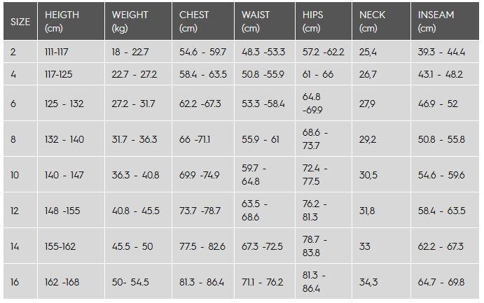 roxy bikini size guide