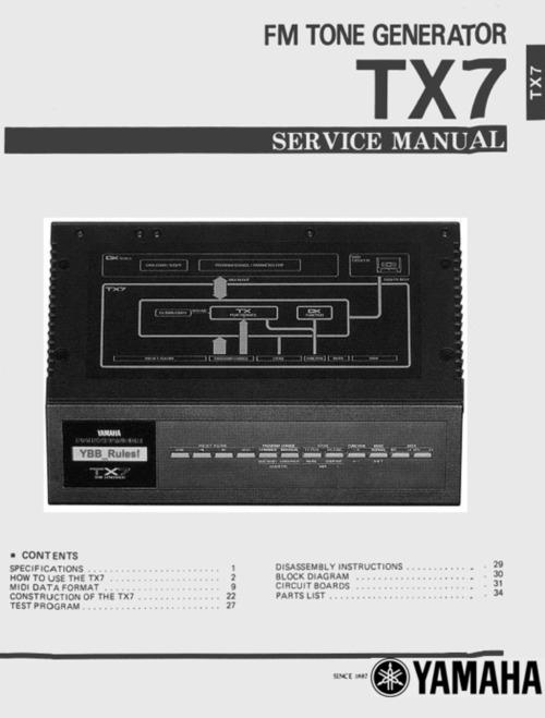 yamaha tx7 manual