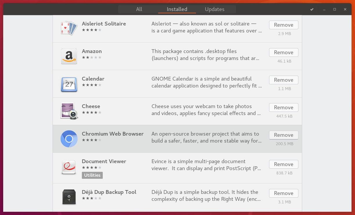 ubuntu uninstall application