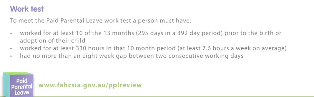 paid parental leave application centrelink