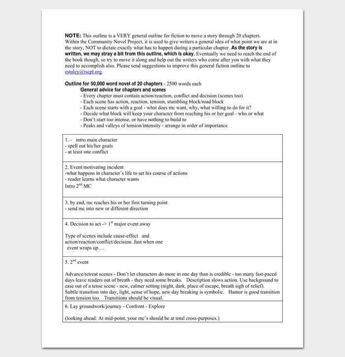 non fiction book outline template pdf