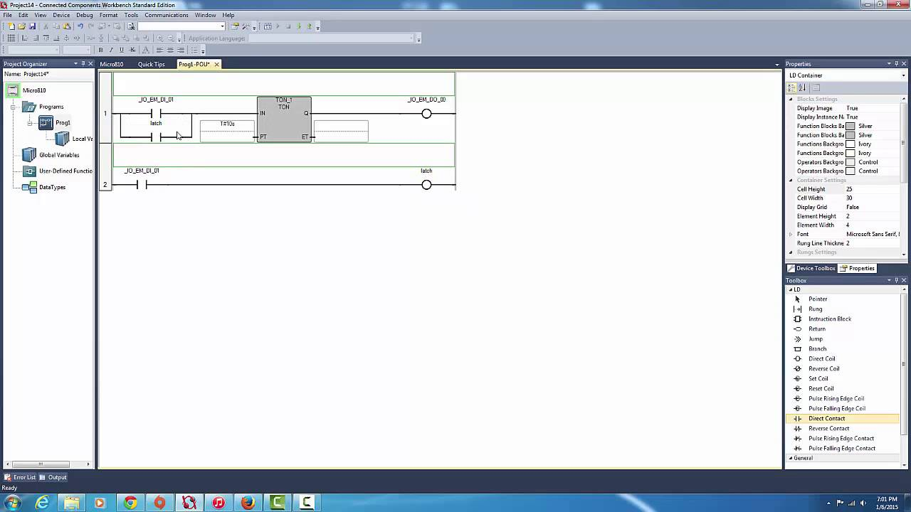 micro 810 sample programs