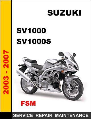suzuki sv1000 manual