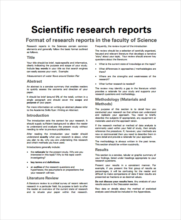 research report writing pdf