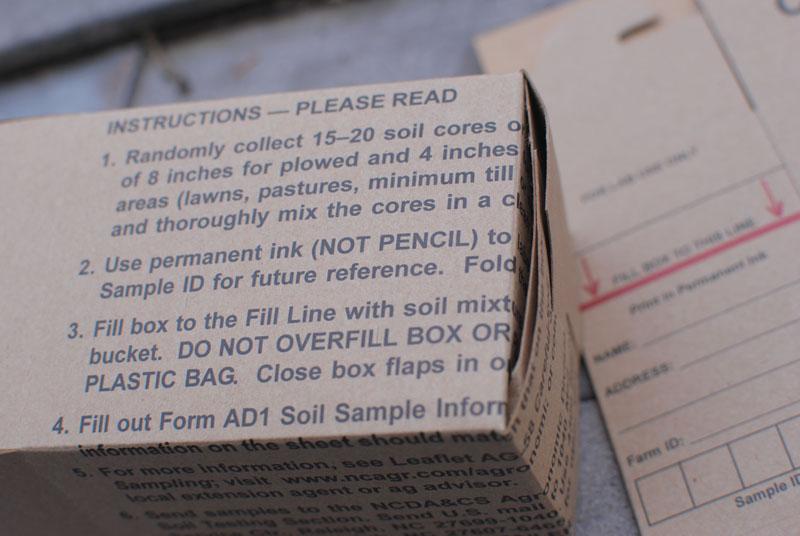 preparing soil sample for nitrogent testing