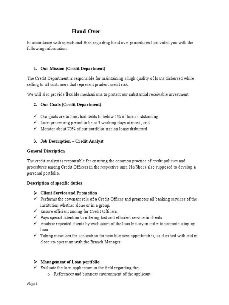 sample letter of handing over duties