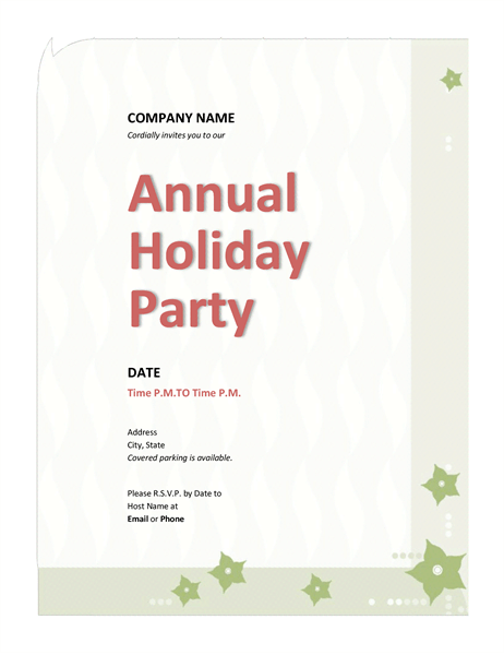 office holiday party invitation email sample