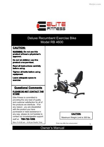 schwinn 212 recumbant manual