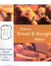 sunbeam 5841 bread maker manual pdf