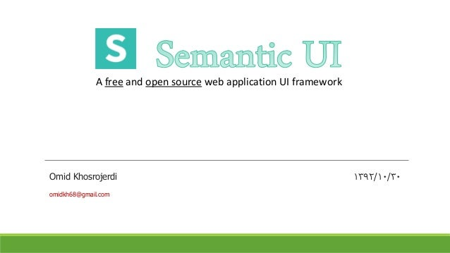 open source front end web application framework
