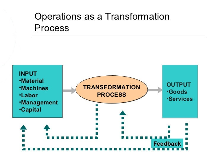 transformation process in operations management pdf