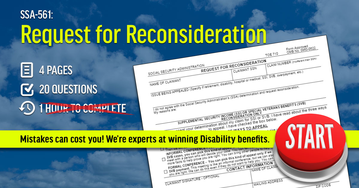 reconsideration application fee