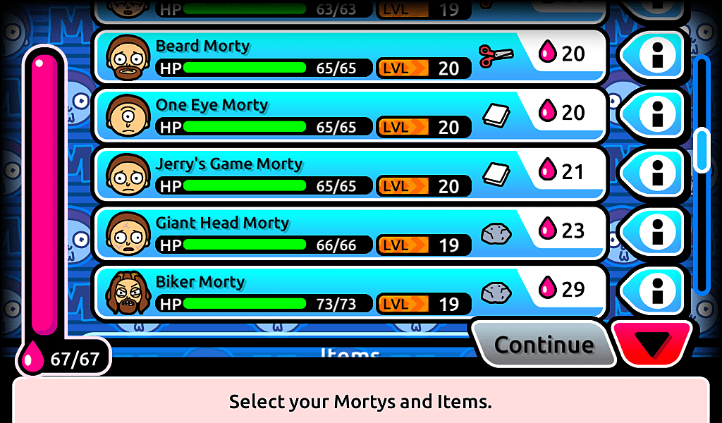 pocket mortys guide 2017