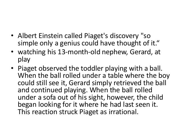 piaget theory of play pdf