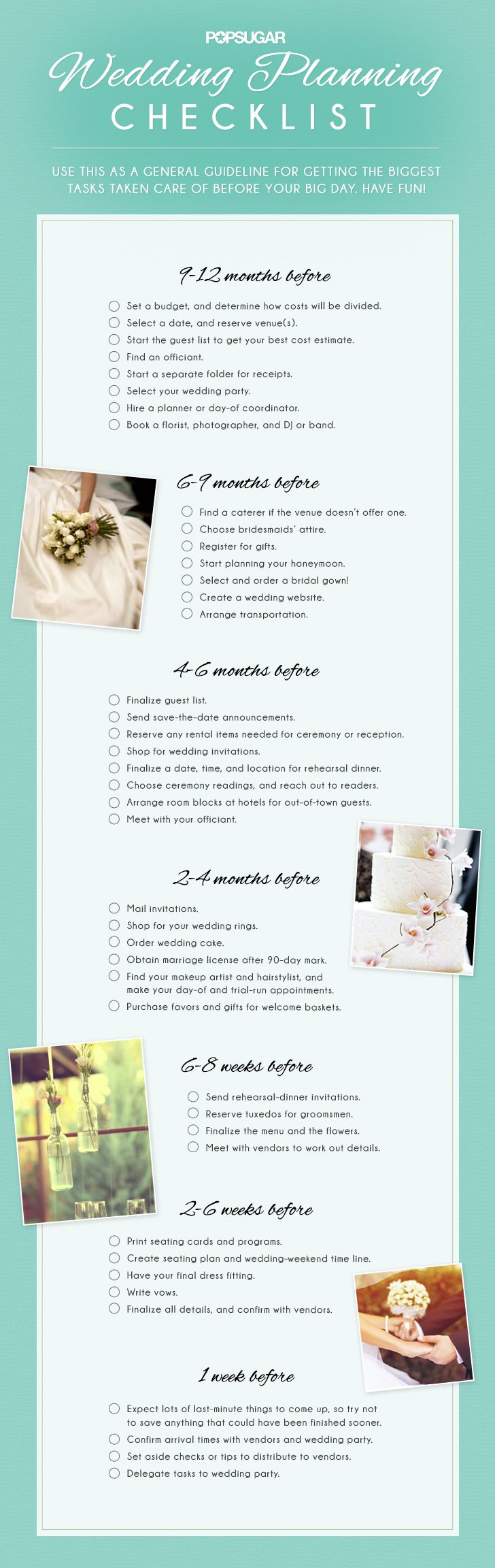 planning guide to list wedding