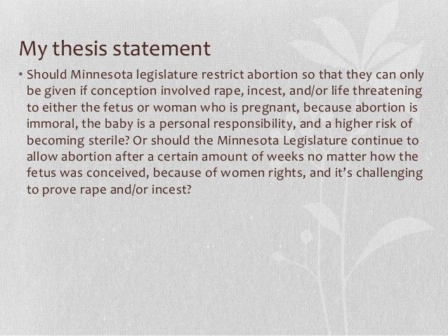 sample thesis statement about abortion