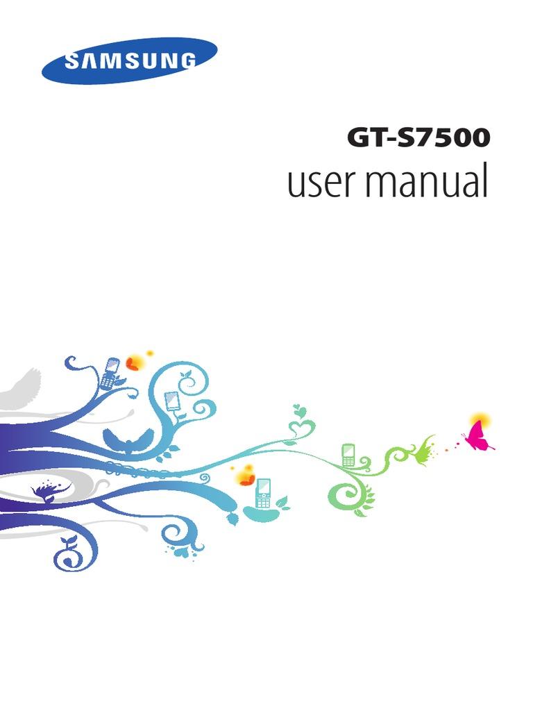 samsung galaxy ace plus gt s7500 manual pdf