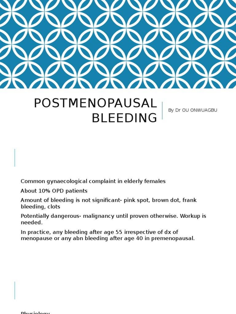postmenopausal bleeding pdf