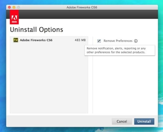 uninstall application