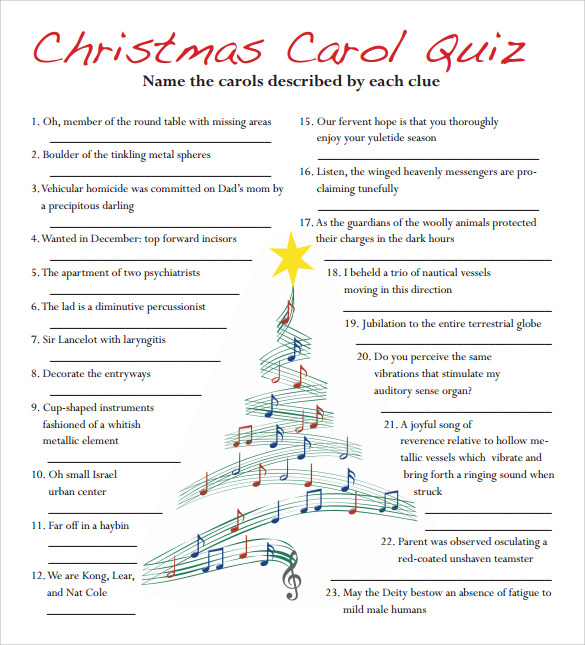 name that christmas carol game pdf