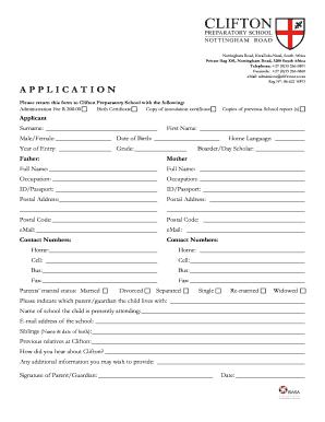 nottingham high school application form