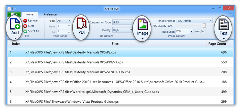oxps to pdf
