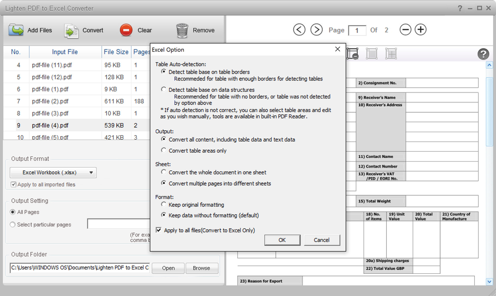 pdf to excel converter download