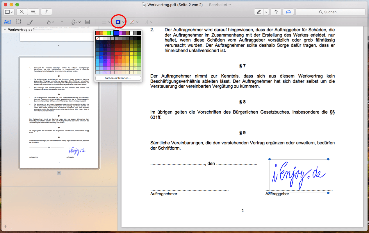 pdf unterschreiben