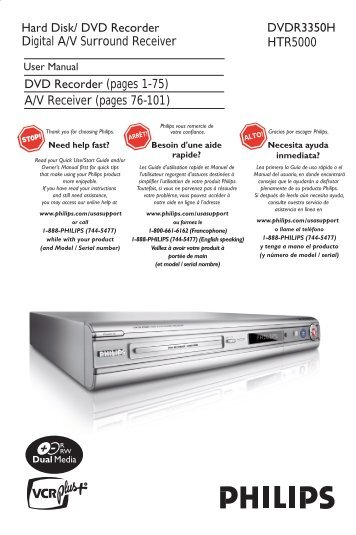 philips dvd recorder manual