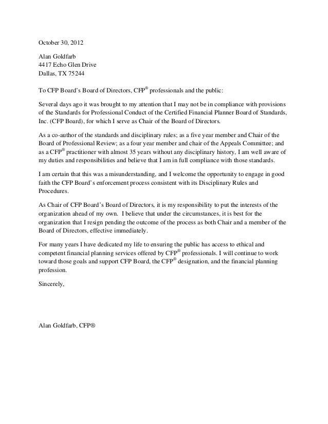 sample board of trustees letter