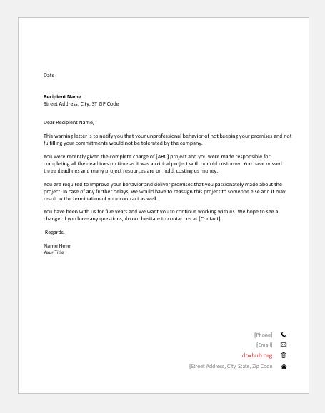 sample complaint letter for unprofessional behavior