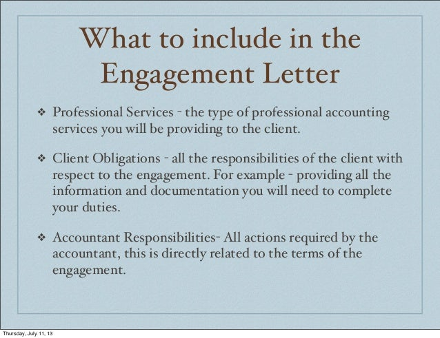sample engagement letter for accounting services