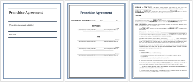 sample franchise contract nz