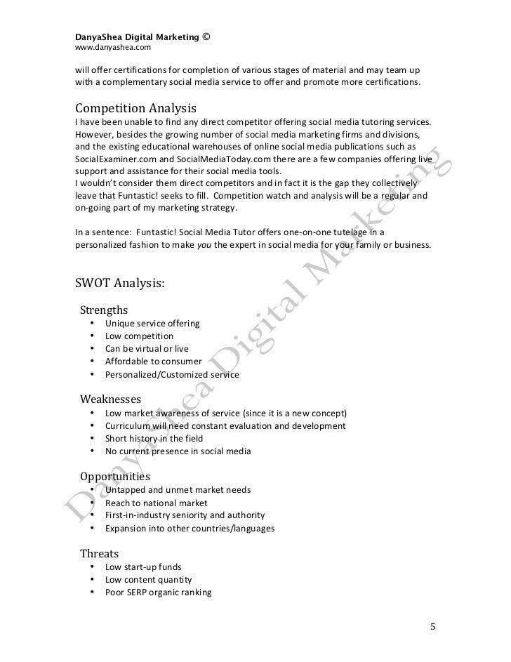 social media plan sample pdf