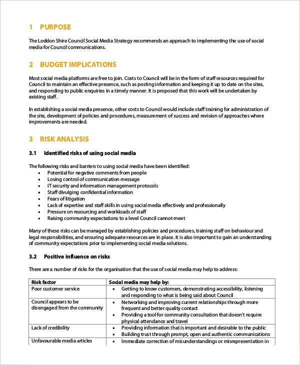 social media strategy template pdf