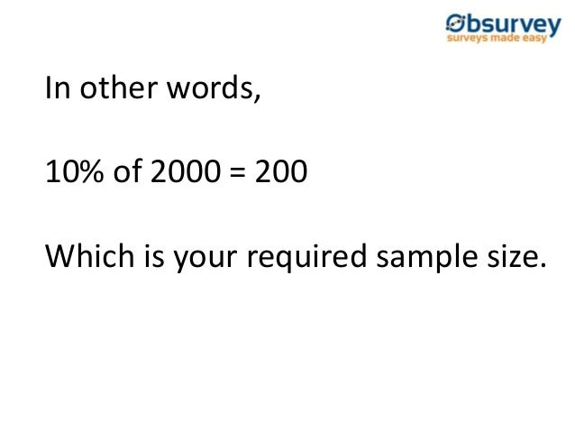 survey sample size for statistical significance
