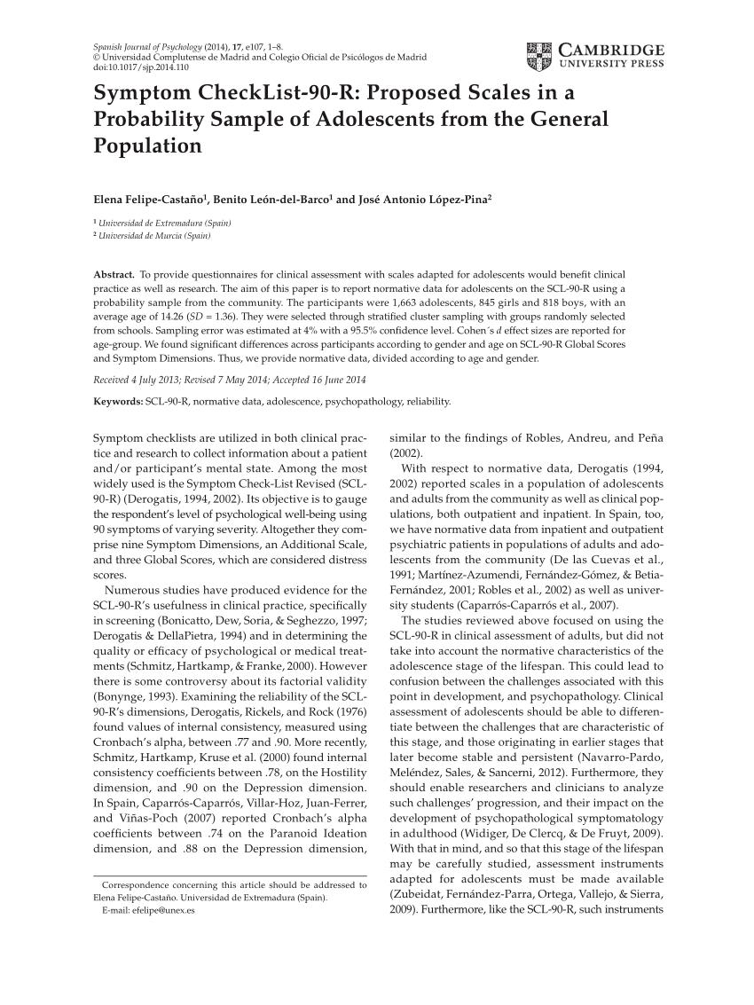 symptom checklist 90 pdf