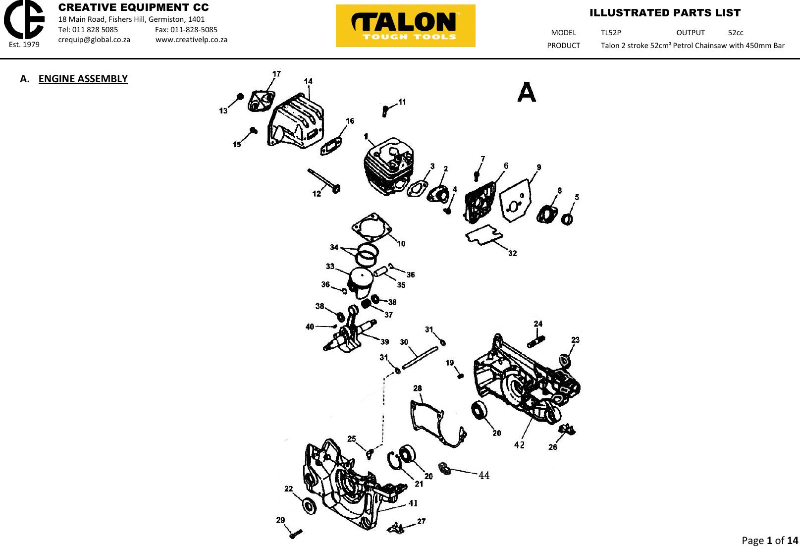 talon chainsaw manual